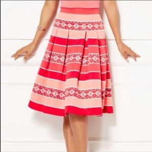 A-line Pleated Flared Out Midi Pink Skirt size 6